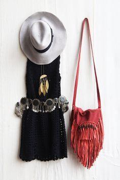 ☮ American Hippie Bohemian Boho Style ~ Summer Festival Dress Outfit!