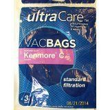 Ultra Care Vac Bags #Kenmore Upright Vacuums Type C (3) PackageQuantity: 3 Model: 54321