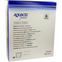 AQUACEL Foam adhaesiv 12,5x12,5 cm Verband:   Packungsinhalt: 10 St Verband PZN: 09060340 Hersteller: ConvaTec (Germany) GmbH Preis:…