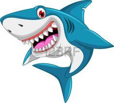 cartone animato: arrabbiato squalo cartone animato