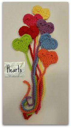 Cute crocheted heart bookmarks!