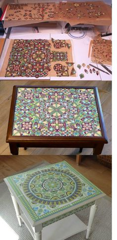 Bridget Derc's fantastic polymer cane tabletops, as seen on The Polymer Arts blog, www.ThePolymerArts.com