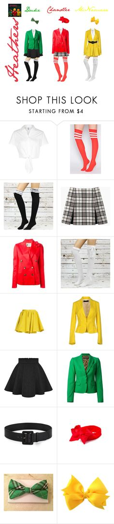 """Heathers"" by bwaytrash ❤ liked on Polyvore featuring American Apparel, Carven, Lanvin, Merci Me London, Dsquared2, Dolce&Gabbana, Prada, Heathers and heathersthemusical"