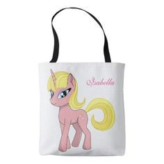 #funny - #Beautiful cute pink fantasy unicorn   starry sky tote bag
