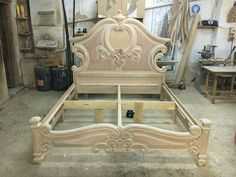 Carved Furniture, Bed Furniture Design, Timber Beds, Wood Carving Furniture, Wooden Bed Design, Carved Beds, Cool Furniture, Door Design Wood, Wood Furniture