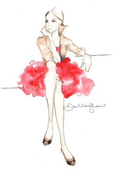 Fashion Illustrations by Dallas Shaw on Haute - A Toronto Fashion and Lifestyle Blog - hautecanada.com - 6