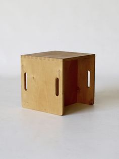 Be Niegeman-Brand (Dutch mid-c20th) Cube stool – Circa early 1950s for Goed Wonen. 31.5 x 31.5 x 31.5cm