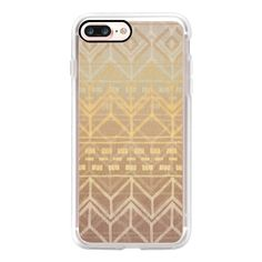 Neutral Tan & Gold Ikat Pattern - iPhone 7 Case, iPhone 7 Plus Case,... (150 RON) ❤ liked on Polyvore featuring accessories, tech accessories, phone cases, cases, electronics, phone, iphone case, apple iphone case, iphone cases and iphone cover case
