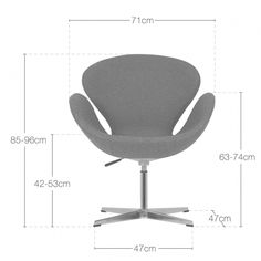 Cult Living Swan Chair in Light Grey | Cult Furniture UK
