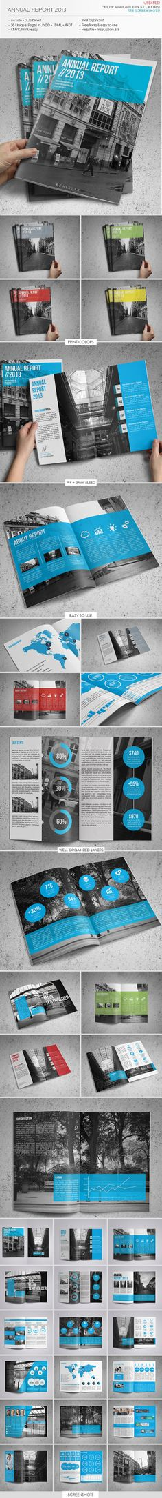 Annual Report by Kyle Jacob, via Behance