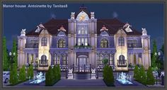 Antoinette Manor house at Tanitas8 Sims via Sims 4 Updates
