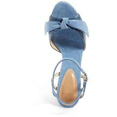 Women's Alexandre Birman Lenna Platform Sandal ($895) ❤ liked on Polyvore featuring shoes, sandals, block heel platform sandals, platform sandals, leather shoes, wrap sandals and strap sandals