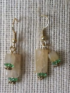 Creamy white flourite with swarvoski crystals by jackiesjewells, $18.00