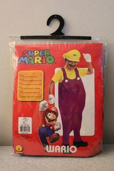 New Wario Boy's Deluxe Halloween Costume Size s 4 6 Super Mario Bros 5 PC | eBay