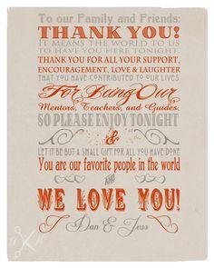 Custom Thank You Wedding Note Digital Download by PaperKutMedia, $4.99
