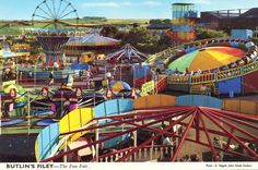butlins filey - 1974 Enjoyed the funfair Now old enough to go on the mouse trap, which was on top of the amusement. I think this year we (Kim Anne and myself) made some friend ship with 4 lads from Workington, they talked different to us. Butlins Holidays, Park Playground, Fun Fair, Roadside Attractions, North Yorkshire, Vintage Postcards, Good Times, Seaside, England