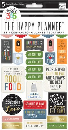 Recipe Organizer Stickers for The Happy Planner™ | me & my BIG ideas