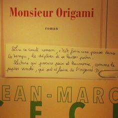 Monsieur Origami de Jean-Marc Ceci  @editions_gallimard  Coup de coeur d'Hélène librairie Hall du livre à Nancy @librairie_halldulivre @robert_myriam  #book #livre #lespetitsmotsdeslibraires