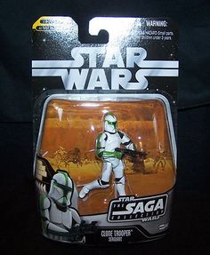 ending soon on ebay low starting bid of $2.99    Star Wars Action Figure Clone Trooper Sergeant #060 MOC EII Saga Collection