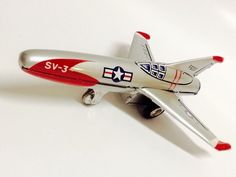 VINTAGE 1960 USAF SV-3 FIGHTER JET Airplane TIN LITHO FRICTION Japan Made MARX Metal Toys, Tin Toys, Airplane Toys, Vintage Toys, Planes, Vintage Antiques, Jet, Japan, Explore