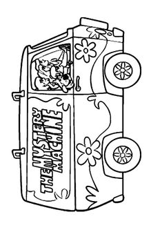 Mystery Machine Coloring Page Scooby Doo Coloring Pages, Lego Coloring, Shaggy, Ali, Mystery, Activities, Facebook, Image, Pies