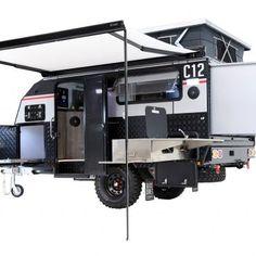 Black Series Off Road Camper Trailer, Camper Trailers, Tiny Trailers, Black Series, Caravans, Australia, Camping, Campsite