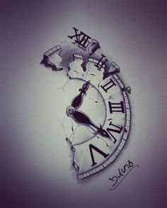 I want something like this without the broke piece at the top with 'time is nothing' going along the jagged edge on my forearm.