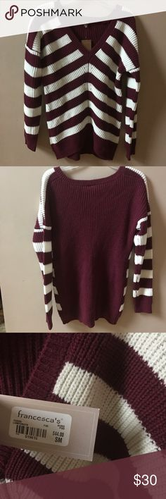 Striped Sweater Brand New! Francesca's Collections Sweaters