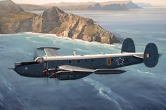 Avro Shackleton Mk3 A 35 Sqdn Shackleton of the SAAF, patrols past Cape Point - early 1970s