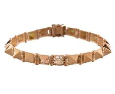 Anita Ko - Rose Gold and Diamond Spike Bracelet in Gift Guides The Holiday Party! at TWISTonline