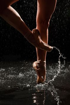 Ballet and water - this looks awesome, but I know Tayla would complain about the damage the water would do to the pointes.