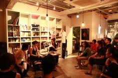 "Book ""Tokyo BOIS!"" release talk event at Gossip Cafe in Tokyo. With editor Yuki Keiser & Photographer Tosaki Miwa"