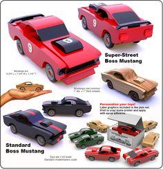 Set 1 - Small World 1969 Mustang Fastbacks Wood Toy Plan Set