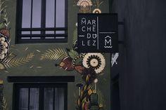 Conception de l'identité visuelle–Montpellier la dynamique accueille un nouveau pôle ! Un village dans la ville, le Marché du Lez se pose comme l'alternative complémentaire qui manquait à la métropole. Hot spot énergique regroupant commerces, brocante…