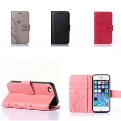 GY For iPhone 5S SE Wallet Cases Fashion Flip PU Leather Case For iPhone5 Iphone5S 5G SE Full Cover with Card Holder Stand Bag