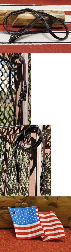 Reins 183415: Tory Dark Oil Braided Western Roping Reins Buckle Ends Bridle Leather 5 8 X 8 -> BUY IT NOW ONLY: $55 on eBay!