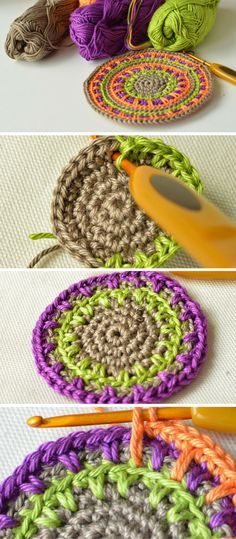 Anatomy of Spike Stitch or How to crochet a simple coaster without a pattern