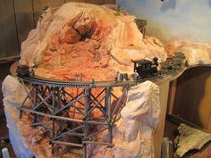 """The gully complete on """"Rusty Gully Mine"""" On30 layout."""