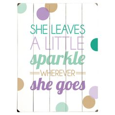 Sparkle Wall Art in Teal