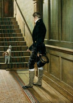 Pieter Christoffel Wonder - The Staircase of the London Residence of the Painter, 1828. Centraal Museum in Utrecht.