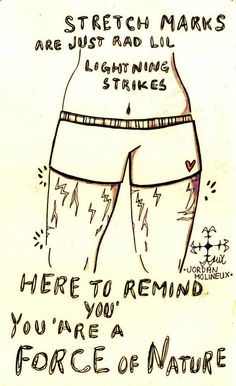 For all the women who are self conscious of their stretch marks.... You are not alone, but remember each mark tells a story!