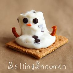 Melted Snowman Snack | Melting Snowman Snack