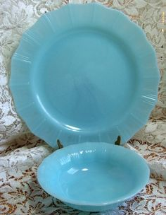 Delphite Blue or Crown Pyrex my color inspiration behind the color of my glamper Lola. I have a few of these plates.