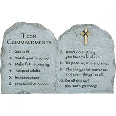 Teen Commandments displays ten insightful points to guide the youth on a positive path. Measures x Confirmation Quotes, Confirmation Gifts For Boys, Catholic Confirmation, Catholic Gifts, Baptism Gifts, Boy Quotes, Gifts For Teens, Gift Guide, Positivity