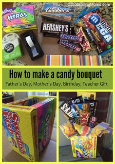 How to make a candy bouquet collage