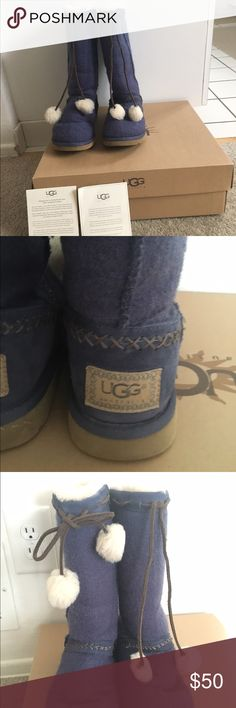Classic Tall Wool Knit Ugg Boots Very good condition, worn only a few times over one winter UGG Shoes Winter & Rain Boots