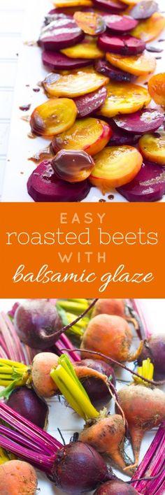 Balsamic Rainbow Roasted Beets