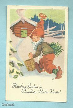 Olavi Vikainen Christmas Cards, Merry Christmas, Scandinavian Christmas, Old Postcards, Happy New Year, Norway, Teddy Bear, Painting, Heaven