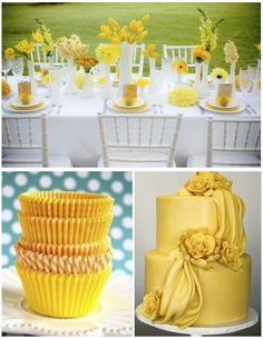 Yellow tea party!! One day, when I have a yard.  And you can all be invited!