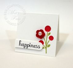 Stampn up fabulous phrases bright blossoms word window punch 2 x 2 card idea
